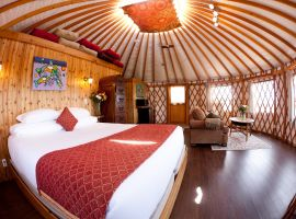 Tatoosh Yurt Interior Soule Creek Lodge Port Renfrew