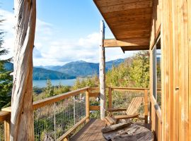 Tanglewood Cabin Accommodation – View of Juan De Fuca Strait and Port Renfrew