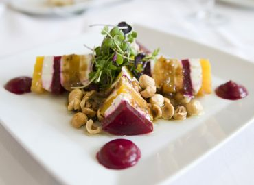 Heirloom Beet and Goat Cheese Salad